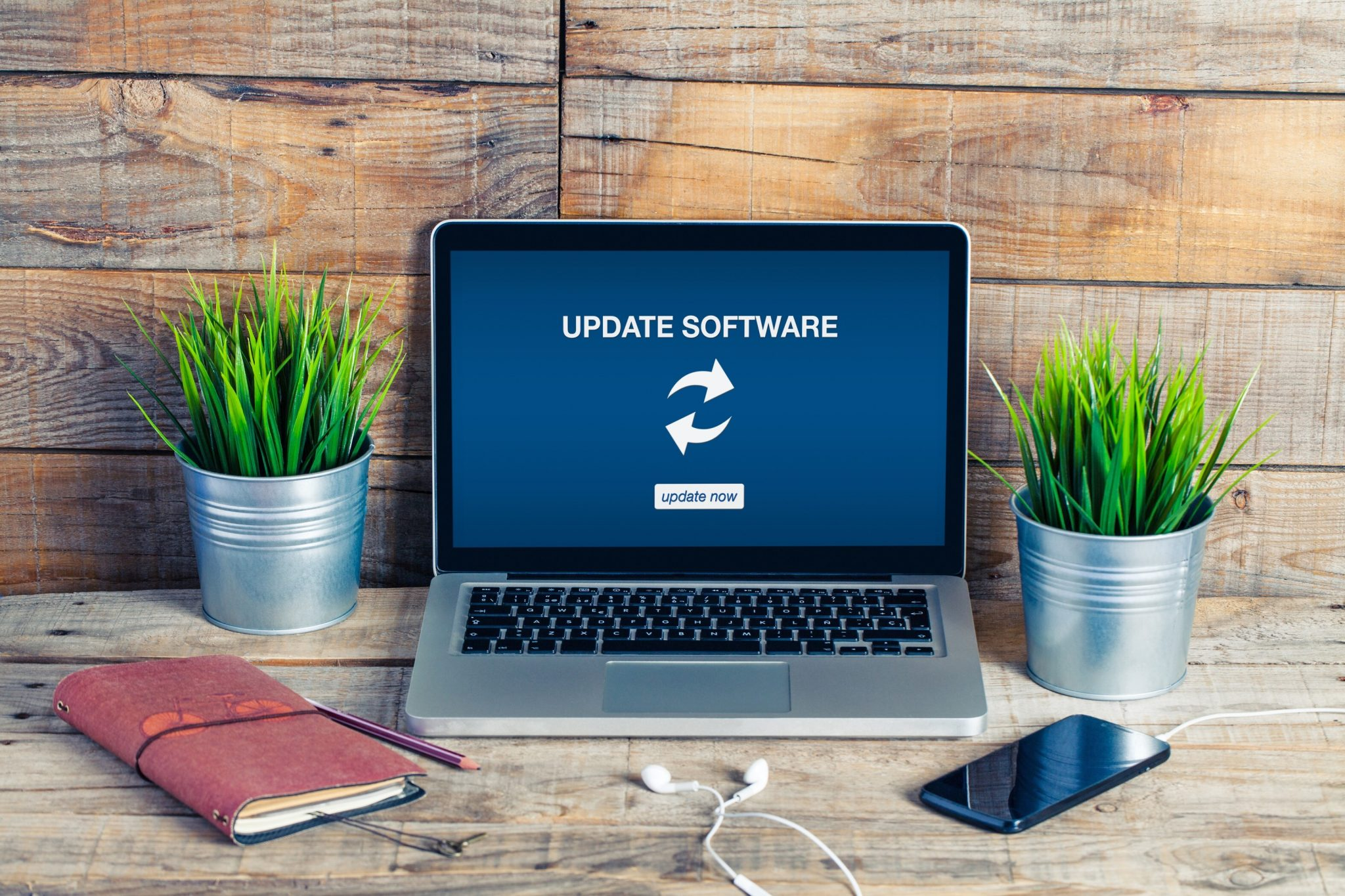 Software update for cybersecurity for small businesses.